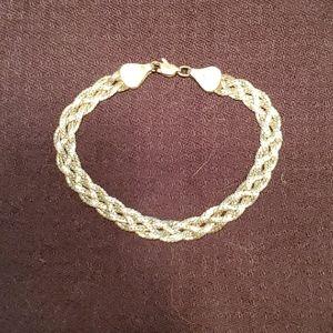 Jewelry - Sterling woven rope bracelet